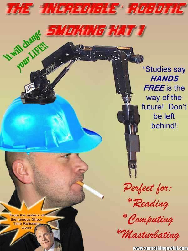 Default incredible robotic smoking hat