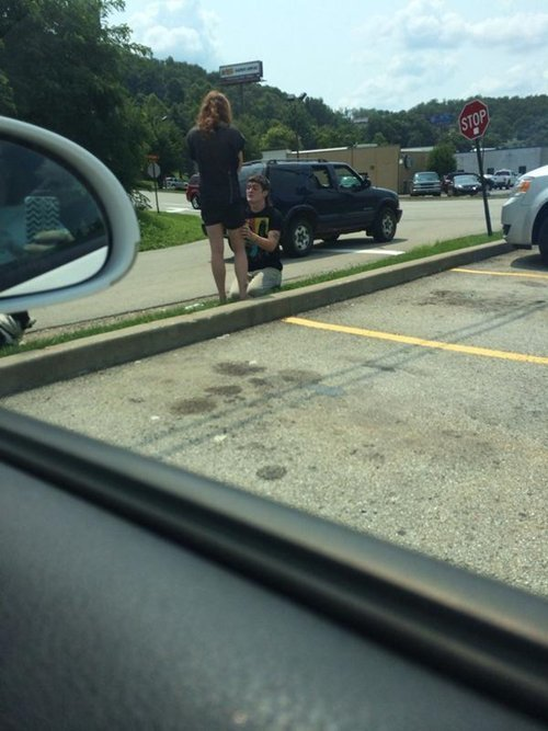 Default trashy proposals outside wendys